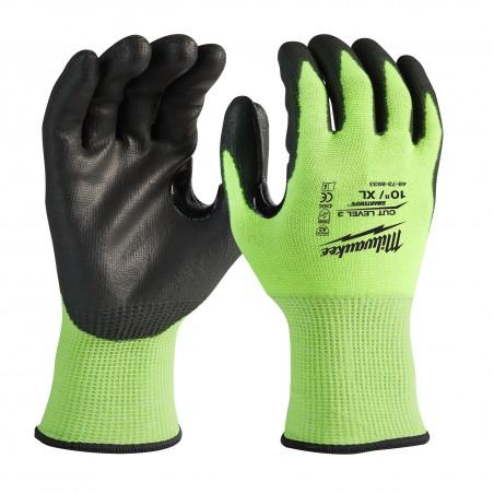 Guantes de Alta Visibilidad y Anticorte Nivel C|Hi-Vis Cut Level 3 Gloves -10/XL